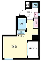 東京都中央区築地1丁目の賃貸マンションの間取り