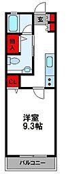 JR鹿児島本線 福工大前駅 徒歩7分の賃貸マンション 2階1Kの間取り