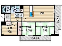 コーポタカイ[3階]の間取り