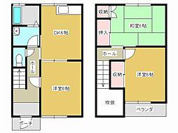 [テラスハウス] 兵庫県加古川市野口町長砂 の賃貸【/】の間取り