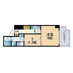 Jigyo HIKARI terrace 4階1SKの間取り