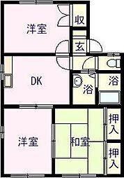 佐賀県唐津市原の賃貸アパートの間取り