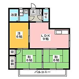グレイスフルハイツ2[3階]の間取り