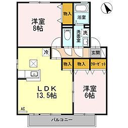 ソレーユガーデン A棟[1階]の間取り