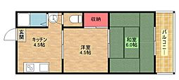 シンセイハイツ[3階]の間取り