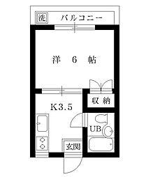 青山マンション[106号室]の間取り