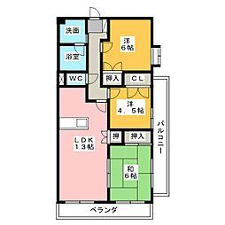 石津レジデンス[1階]の間取り