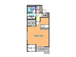 ファイブシティ[4階]の間取り