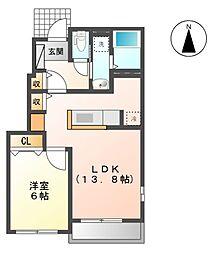 ランクレール[1階]の間取り