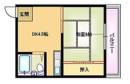 村井マンション[4階]の間取り