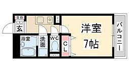 兵庫県伊丹市鋳物師町5丁目の賃貸マンションの間取り