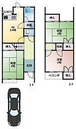 中島ヤングハイツ[1階]の間取り