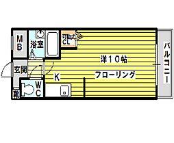 マインド1[203号室]の間取り