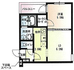 阪急宝塚本線 石橋阪大前駅 徒歩9分の賃貸アパート 3階1LDKの間取り