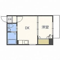 北海道札幌市白石区本通10丁目南の賃貸マンションの間取り