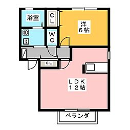 グリーンハイツJ[1階]の間取り