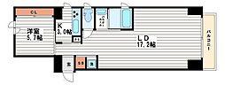北浜クラフト[2階]の間取り