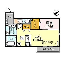 (仮)D-room四十万町[102号室]の間取り