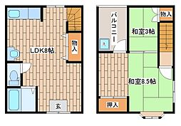 [一戸建] 兵庫県神戸市東灘区魚崎南町2丁目 の賃貸【/】の間取り