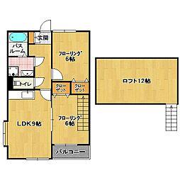 サンライフ カナヤマ[2階]の間取り