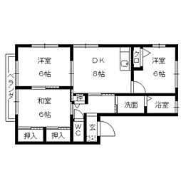 ルピナス御井(3DK)[205号室]の間取り