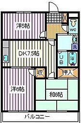 埼玉県さいたま市桜区西堀4丁目の賃貸マンションの間取り
