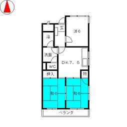 愛知県名古屋市瑞穂区中根町4丁目の賃貸マンションの間取り
