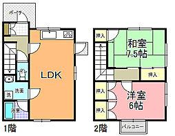 メゾニティ・梅ヶ丘 G〜J棟[H-2号室]の間取り