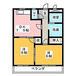 レジデンスライフ[1階]の間取り