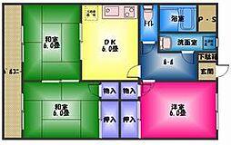 仁栄マンションII[1階]の間取り