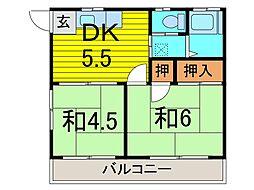 平田ハイツ[1階]の間取り