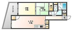 九日電ビル[5階]の間取り