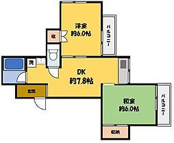 シャロンドビブレ[4階]の間取り
