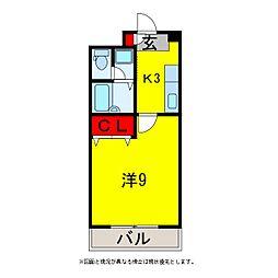 グレース八木3[3階]の間取り