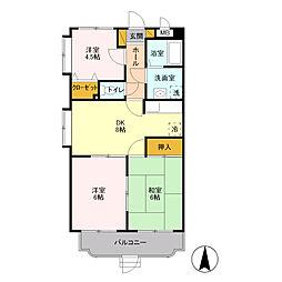 ユーミー宮の杜[2階]の間取り