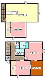 [一戸建] 静岡県浜松市中区向宿2丁目 の賃貸【静岡県 / 浜松市中区】の間取り
