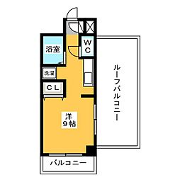 スペーステック博多[4階]の間取り