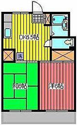 サンハイツ福田[1階]の間取り
