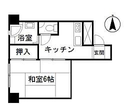 調布マンション[2階]の間取り