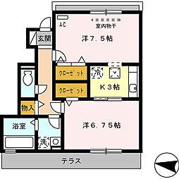ファミーユ凪[B-102号室]の間取り