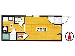 ハイツ長坂II[2階]の間取り