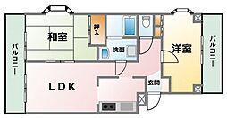 サンモールカクガワII[3階]の間取り