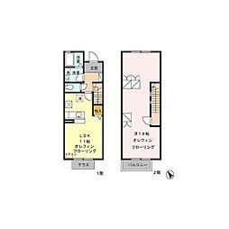 [テラスハウス] 長野県東御市常田 の賃貸【/】の間取り