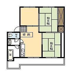 小村アパート[107号室]の間取り