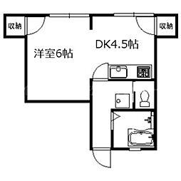 香川県高松市御坊町の賃貸マンションの間取り