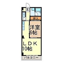 新栄シマダマンション[502号室]の間取り