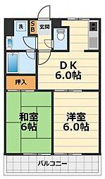 神奈川県大和市深見西1丁目の賃貸マンションの間取り
