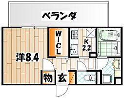 D-room城野[3階]の間取り