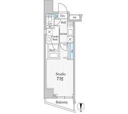 都営三田線 水道橋駅 徒歩5分の賃貸マンション 2階1Kの間取り