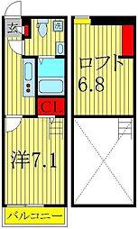 オーガスタ2[1階]の間取り
